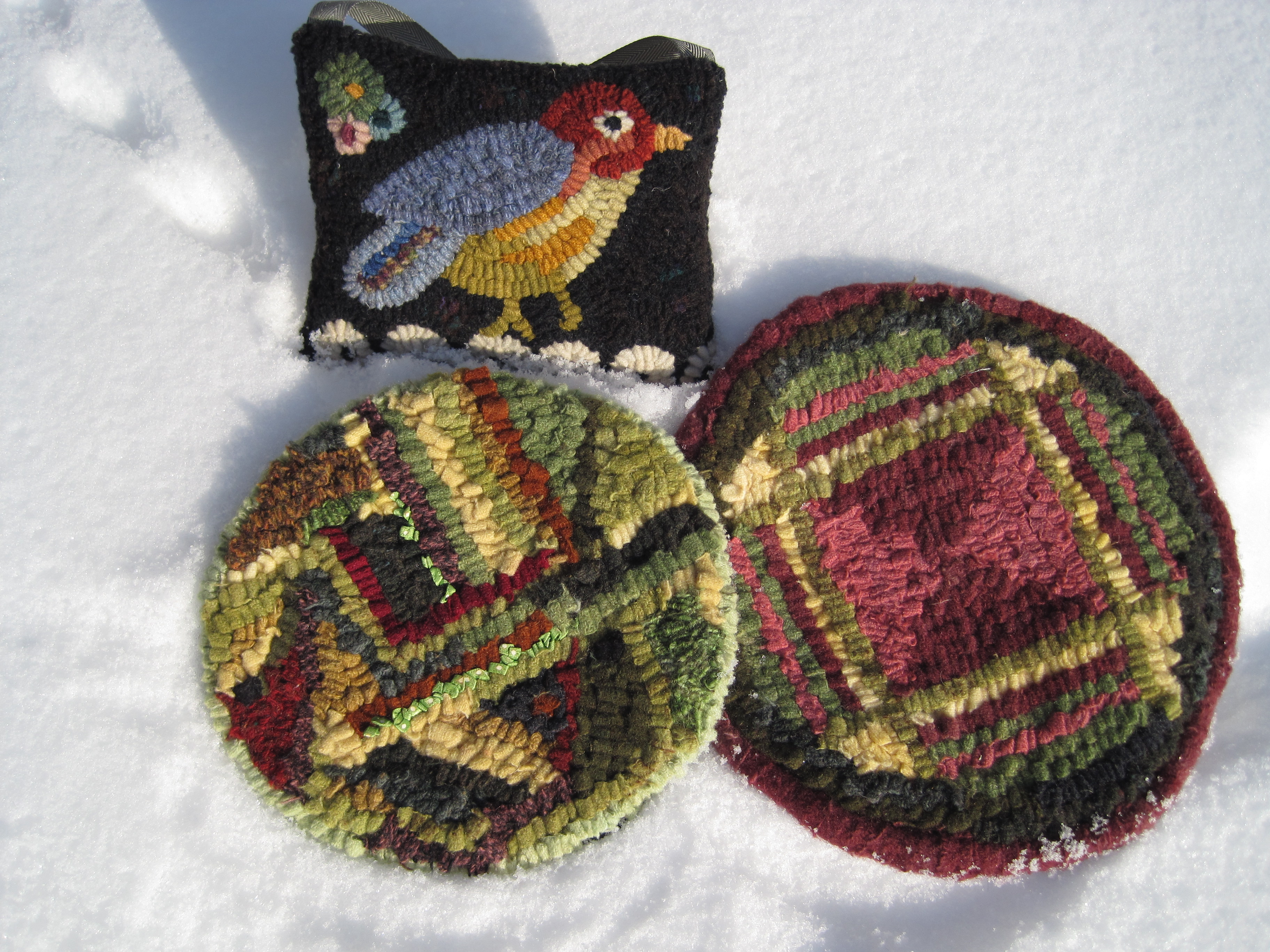Rug Hooking Fine Craft Originally Created From Worn Out