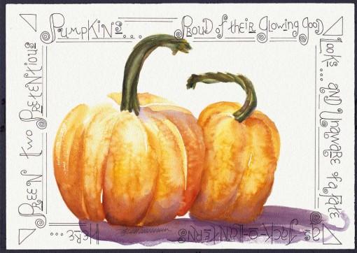 Two Pretentious Pumpkins.