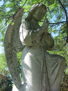 An angel at a grave in Chicago.