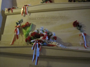 The tomb of Madame Curie, Paris.