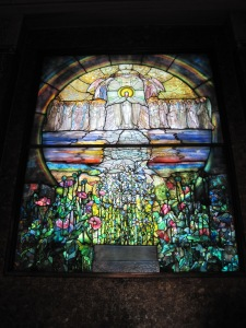 Stained glass window in Garfield's Monument, Lake View Cemetery, Cleveland.