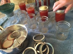 Production line for jam and lids